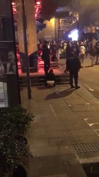 Girl Peeing Outside Club Caught on Snapchat