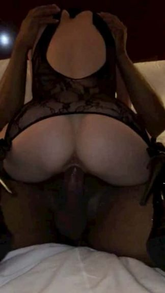 Hot cowgirl sex with a Snapchat bitch wearing black lingerie