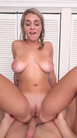 Cute thin blonde girl big natural boobs sex snap