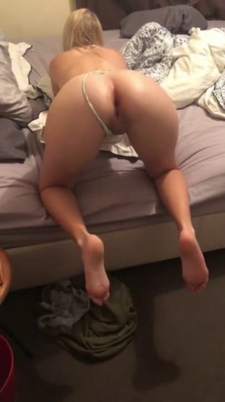 Blonde PAWG with big Snapchat ass gets fucked doggystyle with a cum